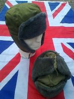 MILITARY ARMY OLIVE COLD WEATHER HAT WITH PULL DOWN SIDES